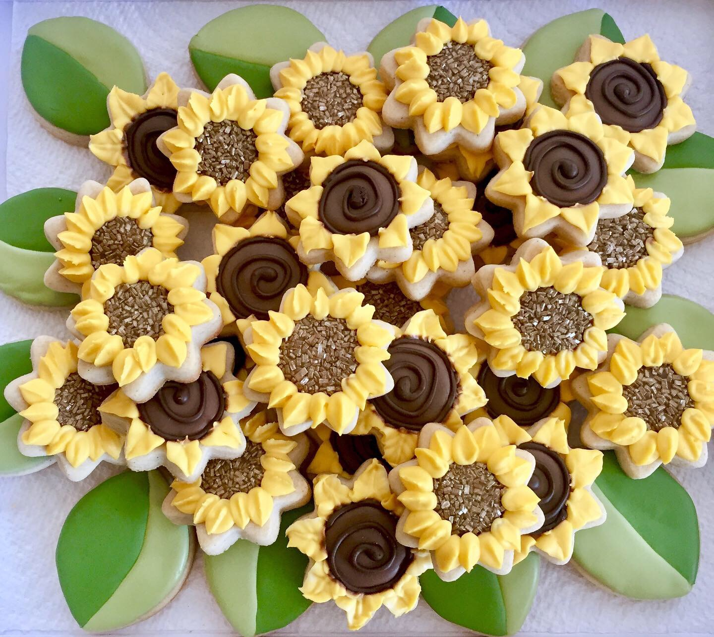 sunflower cookie platter